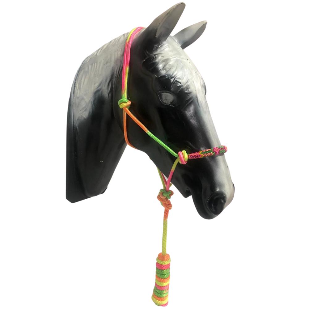 Cabresto Em Corda Boots Horse Colorido Com Miçanga