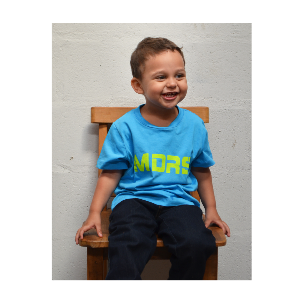 Camiseta Infantil Os Moiadeiros Azul Claro Ref.: MDRS