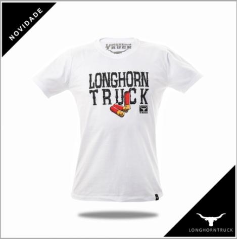 Camiseta Masculina Longhorn Truck Branca