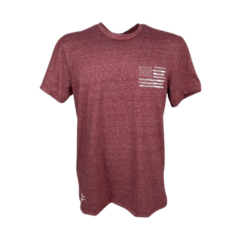Camiseta Masculina Os Moiadeiros Mescla Vermelho