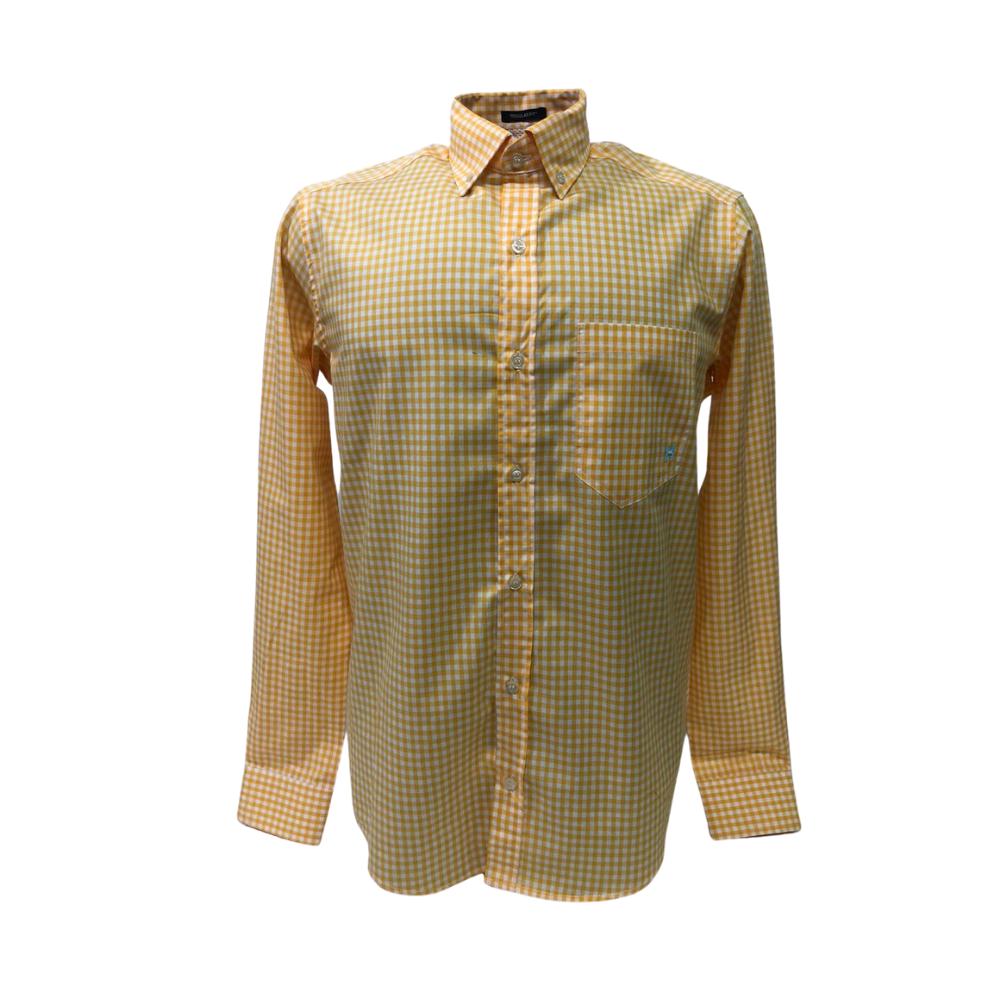 Camisa Country Masculina TXC Xadrez Amarela