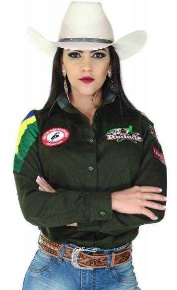 Camisete Feminina Bordada Radade Green Team Verde