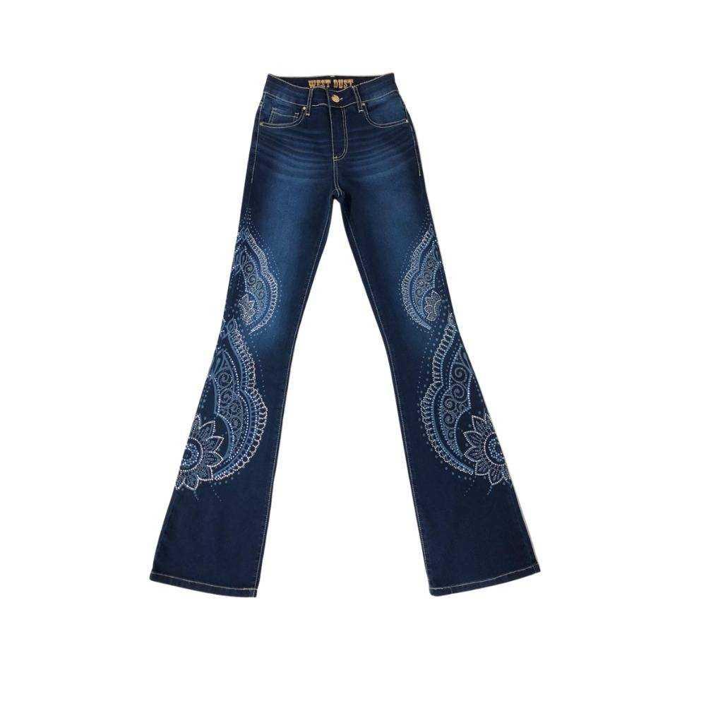 Calça Jeans Country Feminina West Dust Trentino Carmem