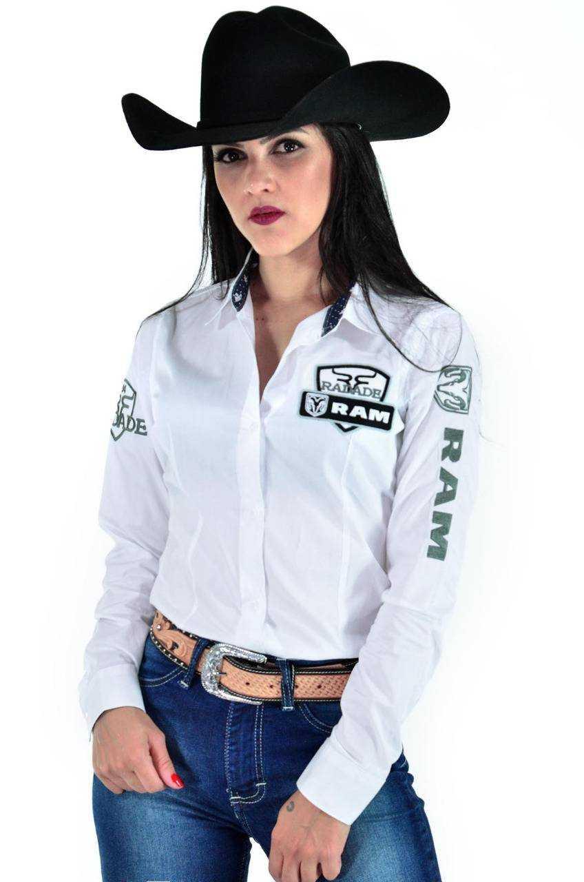 Camisa Radade Feminina Branca Bordada Ram Lançamento 2020