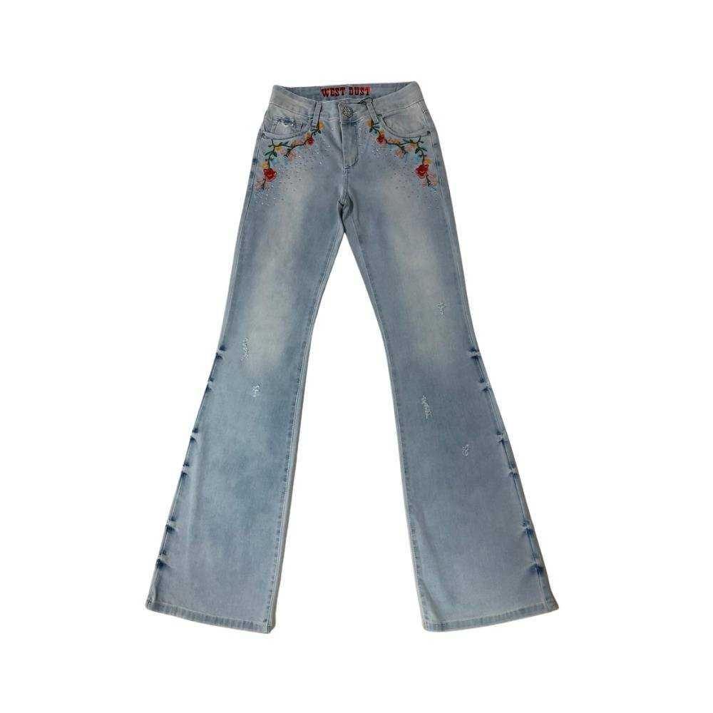 Calça Jeans Country Feminina West Dust Glasiela Boot Cut
