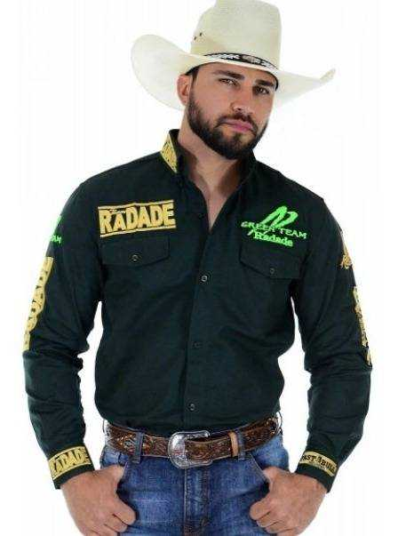 Camisa Masculina Radade Bordada Green