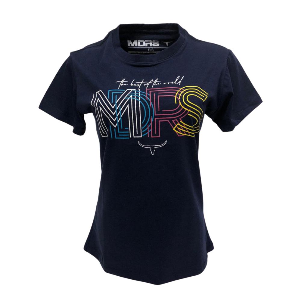 Camiseta Feminina Os Moiadeiros Azul Marinho