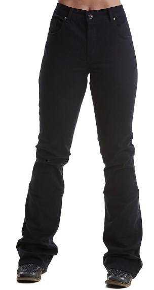 Calça Jeans Country Feminina West Dust Flare Preta