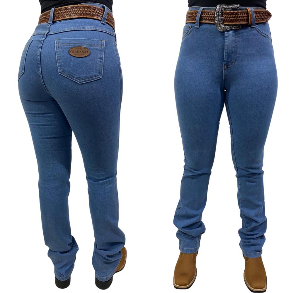 Calça Jeans Feminina Reta Badana 08 - True Blue - Alabama