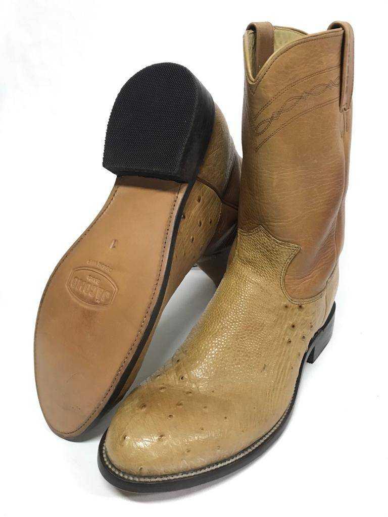 Bota Texana Masculina Country Jácomo Avestruz Canela