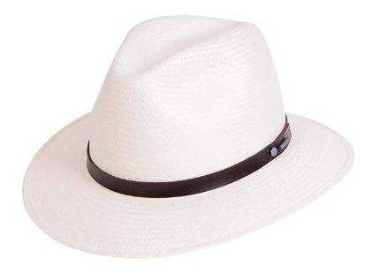 Chapéu Pralana Panamá Legítimo Branco Weekender Aba 7