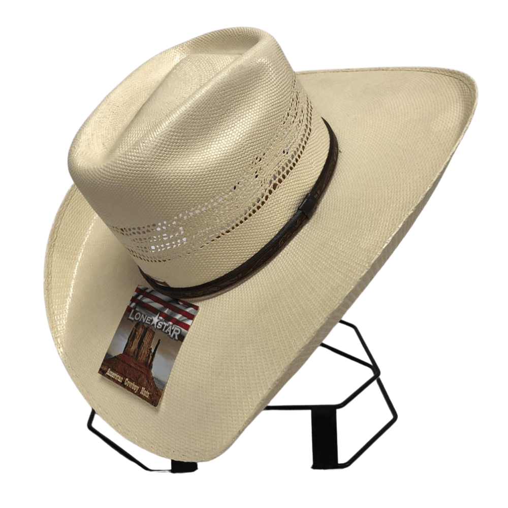 Chapéu Country Importado Lone Star BWB 20X Branco Natural - 0002