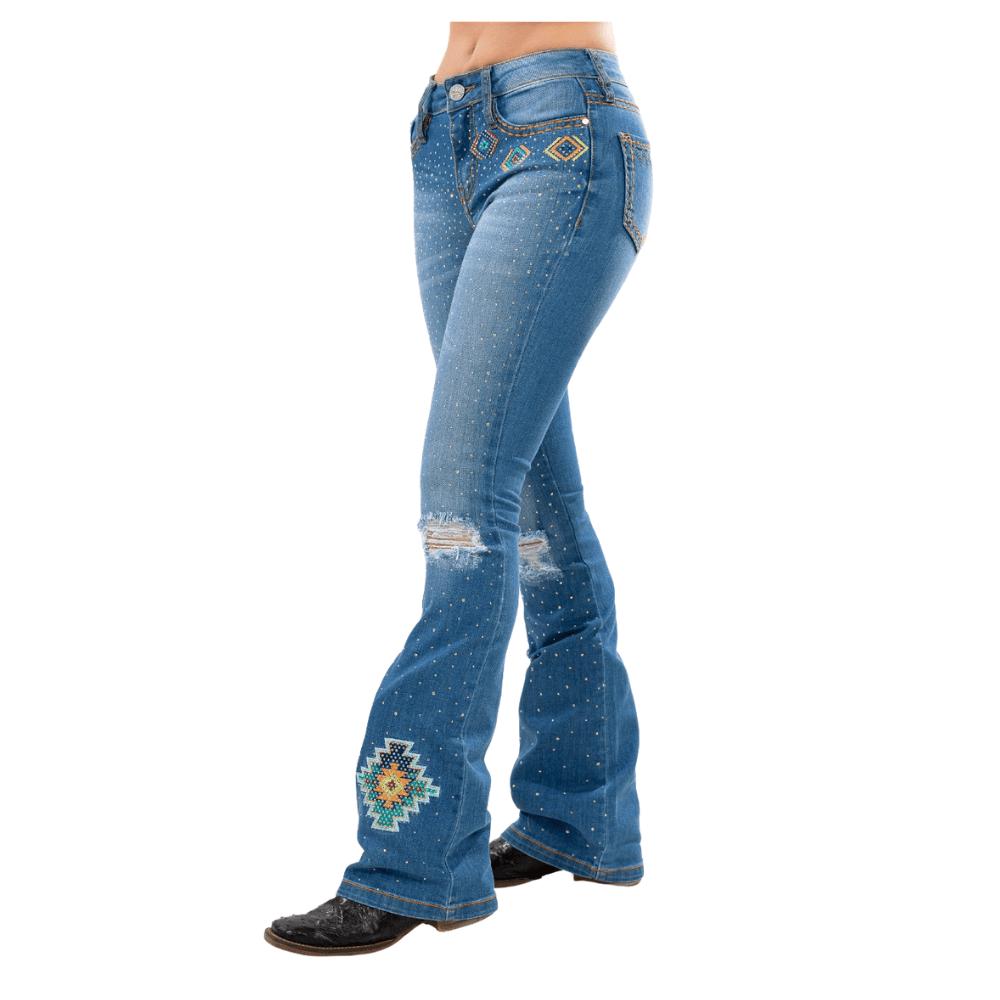 Calça Jeans Feminina Flare Miss Country Zingara Ref.00009