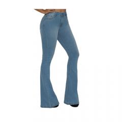 Calça Feminina TXC XF Flare Soft Jeans Azul Clara