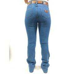 Calça Jeans Country Feminina For Texas Azul Clara Flare
