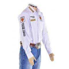 Camisa Radade Masculina Branca Bordada