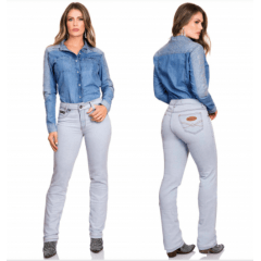Camisa Jeans Feminina Buphallos REF BPL62