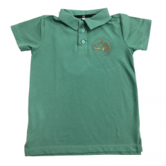 Camiseta Polo Infantil Cavalo Crioulo Colbeck Verde