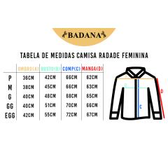 Camisa Radade Bordada Feminina Barretos Preta