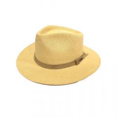 Chapéu Pralana Panamá Amarelo Lona Trança Fechada Aba 7