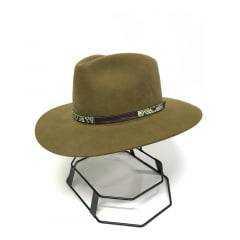 Chapéu Social Cury Australiano Casual Pelo De Lebre Marrom