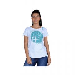 Camiseta Feminina Ox Horns T Shirt Branca REF 6155