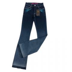 Calça Jeans Country Feminina West Dust Flare Megan Eagle