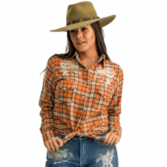 Camisa Pedra Da Lua Feminina Miss Country - Xadrez Ref:0664