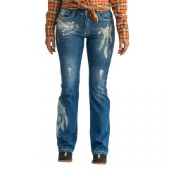 Calça Feminina Miss Country Jeans Dreams Cor Jeans Ref:0658
