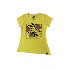 Camiseta Feminina 2K Jeans Amarela - Ref. 041