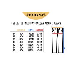 Calça Feminina Arame Jeans Penas