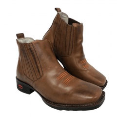 Botina Texana Country Masculina Big Bull Boot Marrom