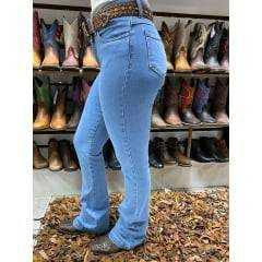Calça Flare Feminina Arame Jeans Delave