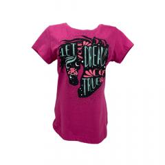 Camiseta Feminina 2K Jeans Pink Com Strass