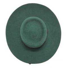 Chapéu Gaúcho Cury Verde Alemão Cor Jade Aba 10 Curvada - 0006