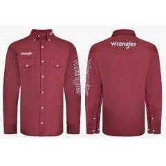 Camisa Wrangler Masculina Bordô