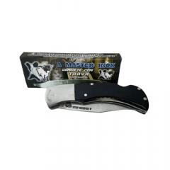 Canivete Master Inox Acrílico Preto com Trava Ref:AT-009