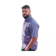 Camisa Masc country TXC Roxo Xadrez Manga Curta - Ref.: 2528
