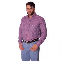 Camisa Masculina Ox Horns Xadrez Vermelho e Azul Ref: 9296