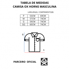 Camisa Masculina Ox Horns Xadrez Azul Claro - Manga Curta