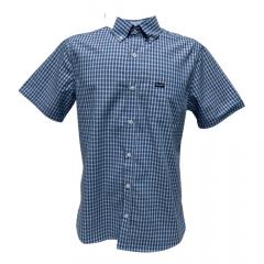 Camisa Wrangler Tricoline Azul Manga Curta REF WM9920UN