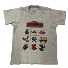 Camiseta Country Infantil Unissex Bege - Ox Horns Ref. 5060