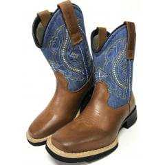 Bota Texana Feminina Big Bull Brasa/Jeans - Ref.9610