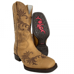 Bota Texana Feminina Texas Rodeo Crazy Mostarda Ref.: TR314