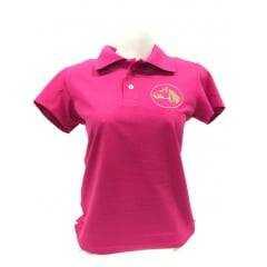 Camiseta Polo Feminina Cavalo Crioulo - Rosa