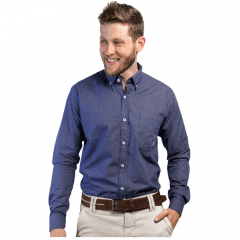 Camisa Masc country TXC Azul Xadrez Manga Longa Ref.: 2608L