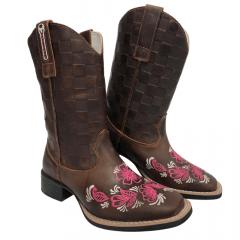 Bota Texana Feminina Big Bull Boots Fóssil Tabaco