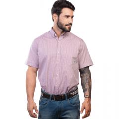 Camisa Masc country TXC Rosa Xadrez Manga Curta - Ref.: 2612C