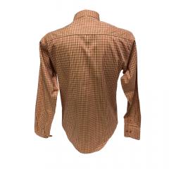 Camisa Masculina Classic Xadrez Laranja Ref: 1902