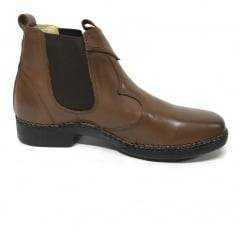Botina Sapato Masculino Zebu Marrom Couro Legítimo